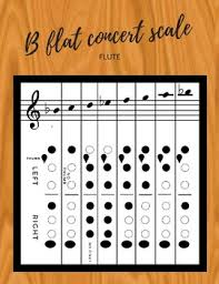 Flute B Flat Concert Scale Made Easy With Fingering Chart
