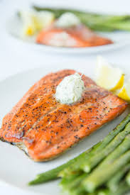pan seared salmon topped with a dill garlic pound er 15 minute recipe