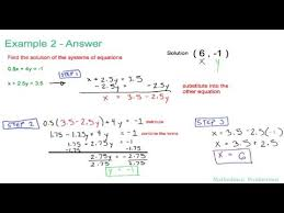five 5 minute math solving systems