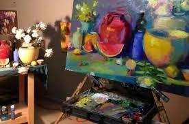 Elio Camacho painting demonstration at Dunedin Fine Art Center