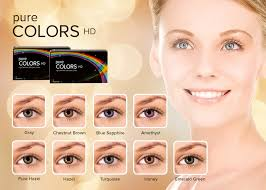 Contact Lenses Colour Chart Pure Colors Hd Prescription