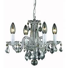 elegant lighting rococo 15 in 4 light chrome crystal crystal candle chandelier