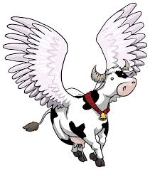 amp; Animals Drawings Illustration Cow Cows Bulls Marija - Flying Birds Illustration Farm Winged Artpal Piliponyte Fish