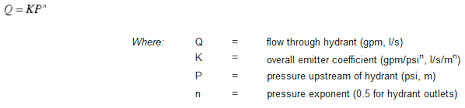 Fire Hydrant Coefficient Chart Estimating Hydrant Discharge Using Flow Emitters