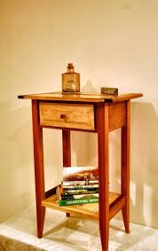 buy a handmade shaker style mahogany and maple nightstand with