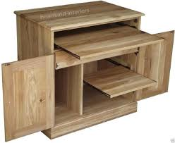conran solid oak hidden home office. Medium Size Solid Oak Desk Computer Cupboard Home Office Hideaway Study Hide Away Bureau Large Conran Hidden E