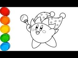 Free printable kirby coloring pages for kids. Drawing For Kids How To Draw A Kirby Coloring Pages Nintendo Kirby Youtube
