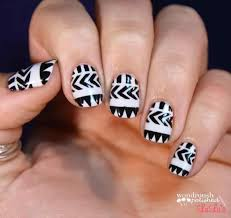 black and white tribal nail art | rajawali.racing
