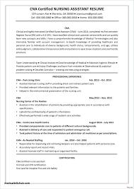 Sample Nursing Assistant Resume Nursing Assistant Resume Basic Nursing Assistant Resume