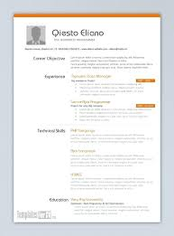 One Page Resume Template Inspiration One Page Resume Template
