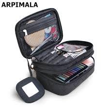 arpimala 2018 luxury cosmetic bag professional makeup bag travel organizer case beauty necessary make up storage beautician box