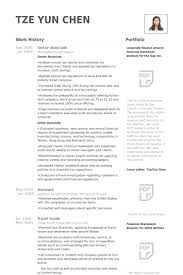 Senior Associate Resume samples