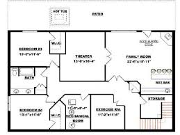 ranch house plans with finished basement basement open floor plans with walkout best finished bungalow house