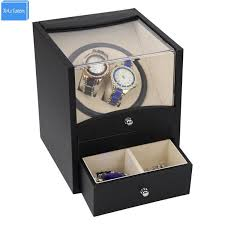 special supply automatic watch winder box 2 motor box for watches mechanism with drawer storage send by dhl fast wood watch box diy watch box from
