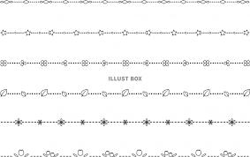 無料イラスト 小さい模様の細いライン6モノクロ