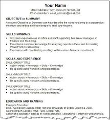 Generic Resume Template 13 Functional Resume Template