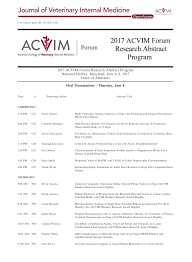 2017 ACVIM Forum Research Abstract Program – topic of research paper in  Veterinary science. Download scholarly article PDF and read for free on  CyberLeninka open science hub.