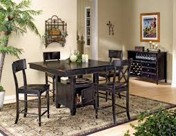 dark wood dining room furniture. dark wood square pub table contemporary counter height gathering dining furniture set with storage island 4713 room
