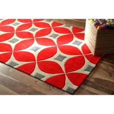navy and red rug handmade modern disco 5 x 8 orange size polyester geometric striped rugby navy and red rug