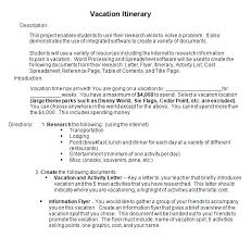 Vacation Itinerary Template Word Family Travel Group Printable Trip ...