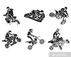 Fototapeta Vinylová Motorka Tetování Collection