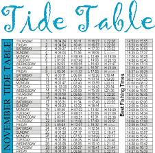November Tide Chart 31 Qualified South African Tide Chart