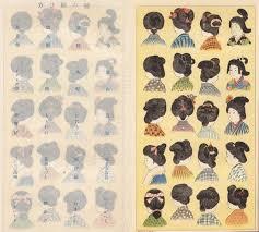 日本髪の結い方明治時代に出版された明治少女節用より