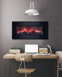 classicflame 36 in curved black wall mount electric fireplace 36hf201cgt