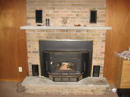 how to lighten a dark brick fireplace