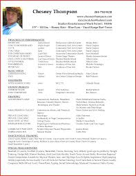 Elegant Actor Resume Template Microsoft Word Personal Leave