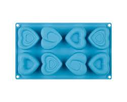 <b>Форма</b> для выпечки <b>кексов</b> Amore силиконовая, голубого цвета