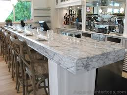 Carrera Countertops vintage kitchen design with exciting white carrera marble 7001 by xevi.us