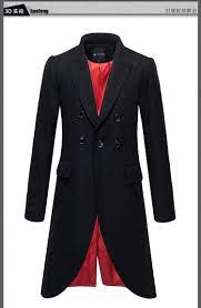winter korean fashion gothic clothing men wool jacket black long mens wool trench coat full length