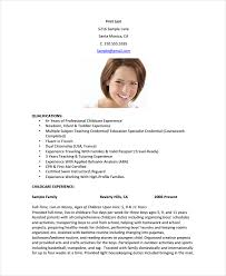 Nanny Resume Template Sample Featuring Child Care Skills Profile And