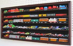 ho rr scale model train hot wheel display case cabinet shadow box hw05