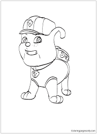 Rubble Paw Patrol Coloring Page Free Coloring Pages Online