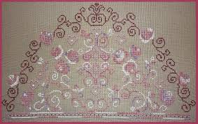 French Cross Stitch Charts Montespan French Cross Stitch Chart Pattern Only Uses Mill Hill Beads Kreinik Thread Fils A Soso Thread Swarovski Fan Shape Design
