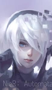Download 1440x2960 Wallpaper Nier Automata White Hair B2