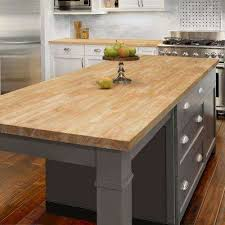 t butcher block countertop in unfinished hevea wood