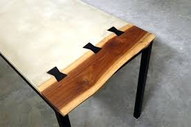 concrete top desk diy outdoor concrete table top