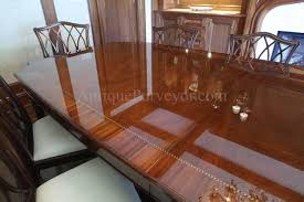 french polished dining table