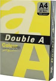 <b>Бумага</b> для копирования <b>Double A A4</b> 500 листов желтая - Krauta.ee