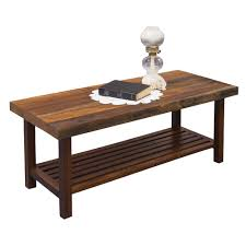 in the barn amish coffee table rustic style furniture cabinfield fine furniture