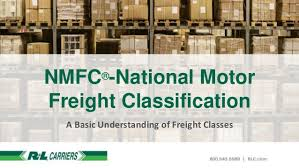 National Motor Freight Classification A Basic Understanding