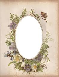 Victorian Photo Album Oval Floral Frame Zibi Vintage Scrap