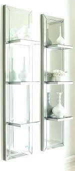 mirror wall unit of floating mirrored shelves shelf image panel uk floatin