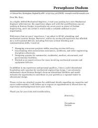 Mechanical Engineer Cover Letter Template Cover Letter Templates