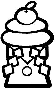 鏡餅のイラスト白黒カラー 保育園幼稚園のおたよりフリー素材