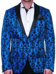 Tesla Clothing Size Chart Maceoo Blue Blazer Tesla Flower Blue
