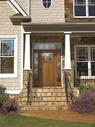 Decorations:Cute And Inviting Fall Front Door Decor Idea With Steps Design  Marvelous Brick Front